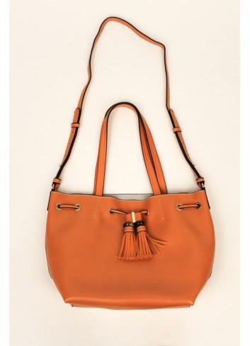 Geanta shopper oranj