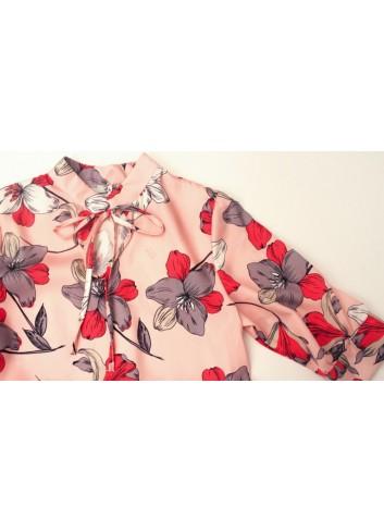 Rochie satinata cu imprimeu floral