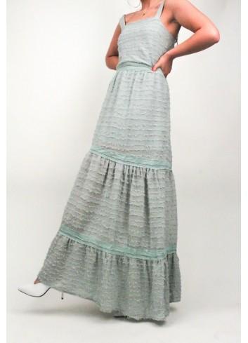Rochie lunga vernil cu bretele