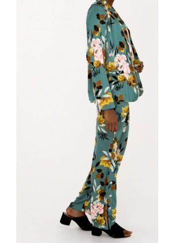 Pantaloni lungi cu imprimeu floral