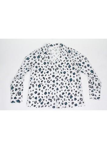 Camasa alba animal print