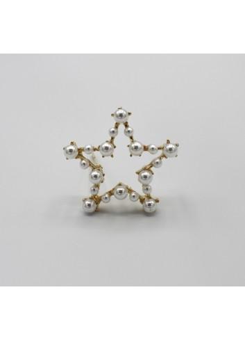 Clama cu perle in forma de stea