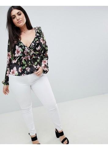 Bluza din sifon cu imprimeu floral