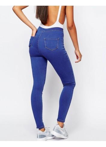 Jeans petite cu talie ridicata skinny fit blue