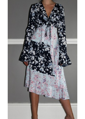 Rochie din sifon cu imprimeu floral